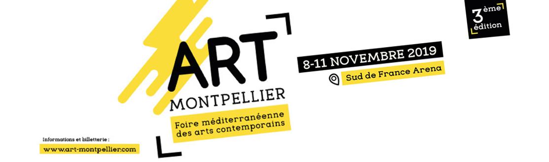 Bannière Art Montpellier, Foire méditerranéenne des arts contemporains - du 8 au 11 novembre 2019 - Sud de France Arena